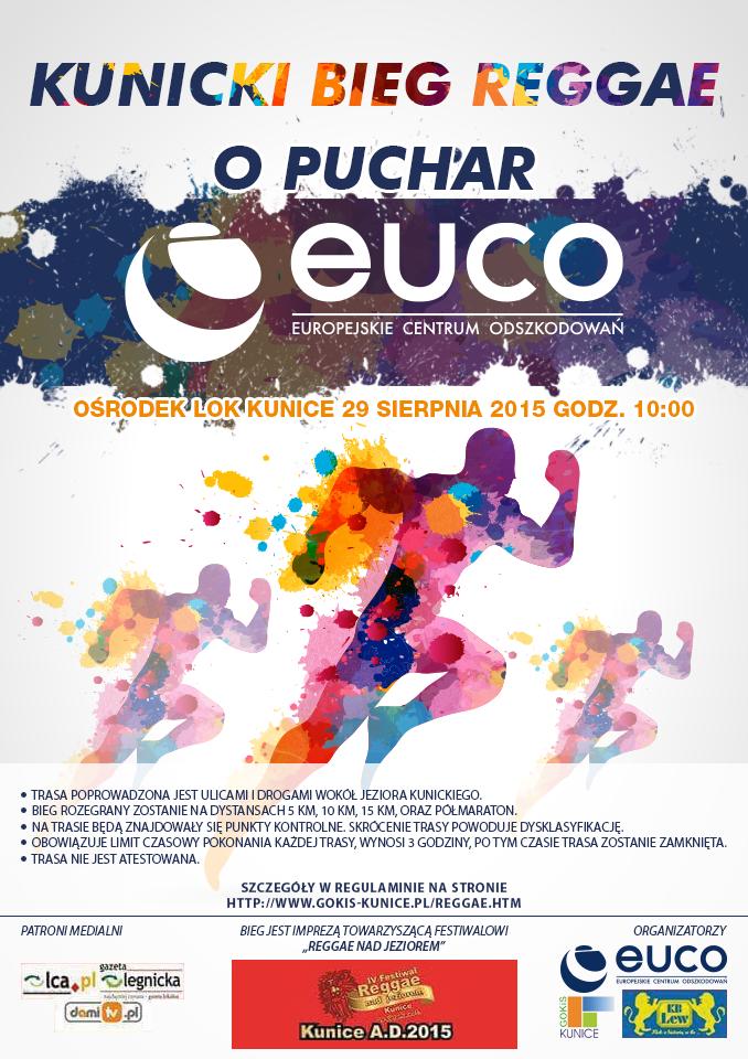 EuCO Kunicki Bieg Reggae Plakat